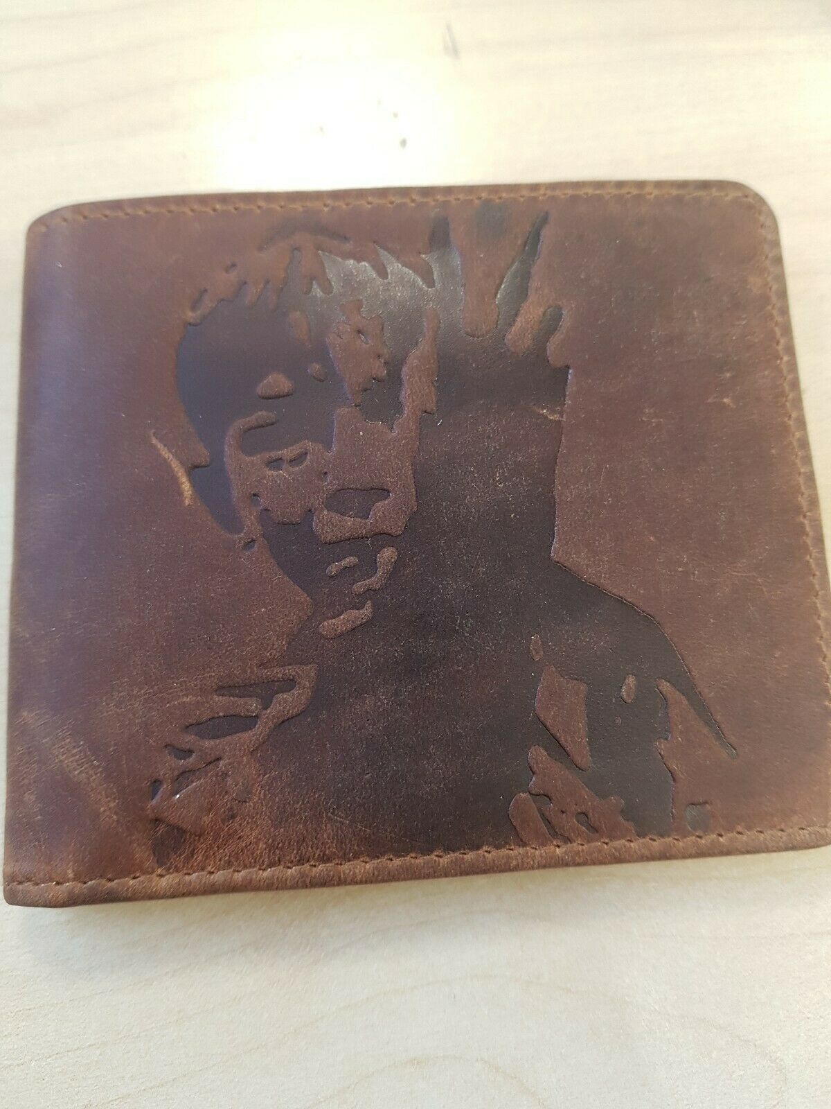 Leather Wallet distressed, brown 48
