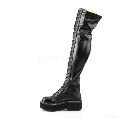 Demonia Stiefel EMILY-375 Schwarz