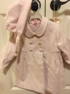 e616dd981 Toddler Girl Pink Wool Coat (tutto piccolo)With Bonnet Size 2/3) | eBay