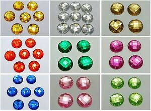 50-Acrylic-Flatback-Sewing-Rhinestone-Round-Button-beads-20mm-Pick-Your-Color