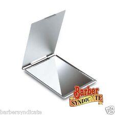 big Travel Slim Aluminium Compact Single Handbag Mirror, Cosmetic Makeup Mirror