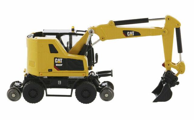 1/87 CAT Caterpillar Railroad Wheeled Excavator Vehicle Model Diecast Toy M323F