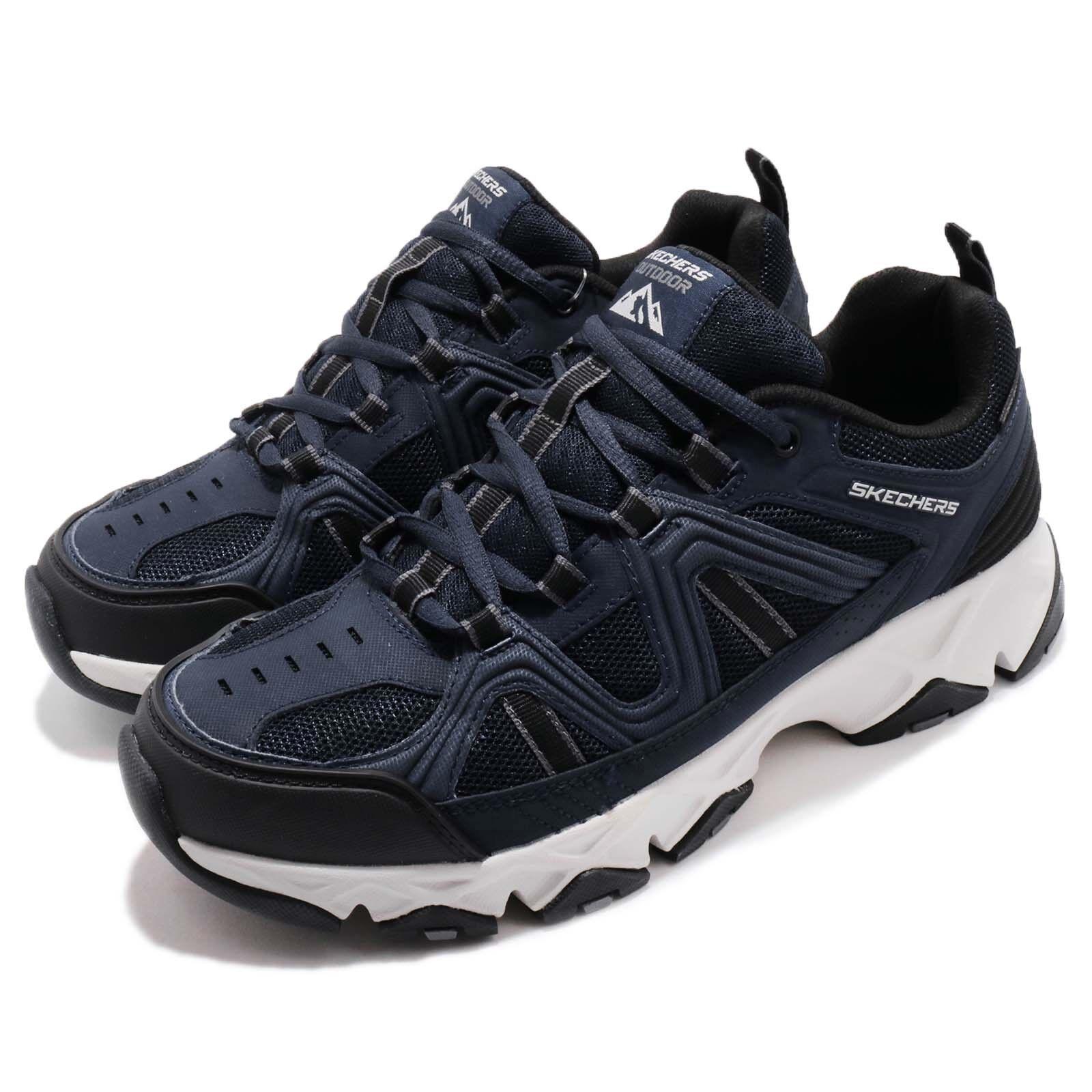 Skechers Crossbar Navy Noir Blanc Men Water Repellent Outdoors Chaussures 51885-NVBK