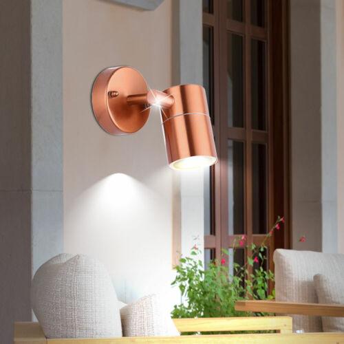 LED Edelstahl Wand Leuchte Veranda Beleuchtung Außen Strahler schwenkbar IP44