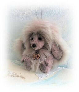 4-034-Faux-Long-Fur-Miniature-Teddy-Bear-with-Bunny-Rabbit-Ears-by-Boulter-Bears