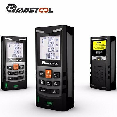 Mustool 100M Digital LCD Laser Distance Meter Range Finder Measure Diastimeter
