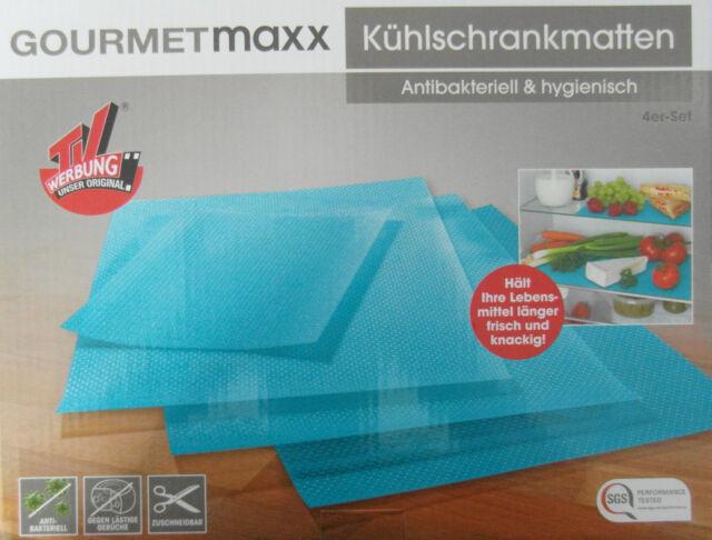 Kühlschrank Matte Antibakteriell : Gourmetmaxx kühlschrankmatten er set türkis antibakteriell ebay