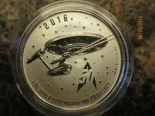 """STAR SHIP ENTERPRISE COIN""  Canadian 2016 ""SILVER Twenty dollar coin"""