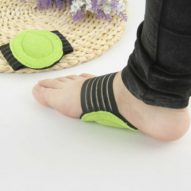 2pcs Fallen Arch Support Cushions Flat Feet Foot Care Pain Relief Wrap Pads LJ