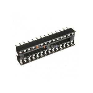 100pcs-28-pin-28p-narrow-dip-ic-sockets-adaptor-solder-type-sockel-2-54mm-pitch