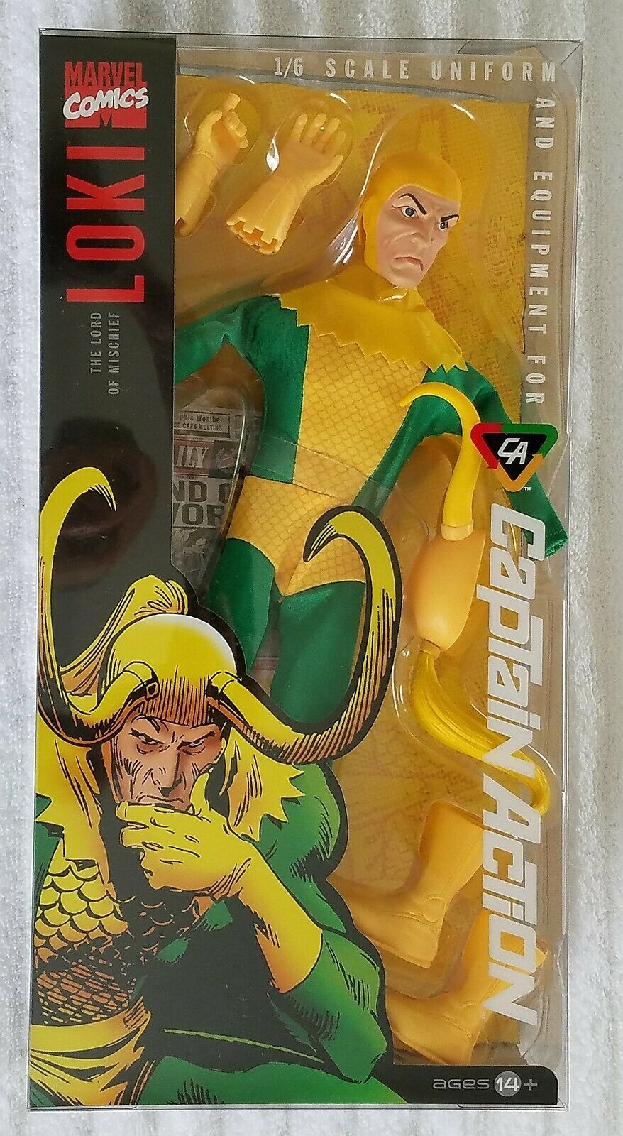 CAPTAIN ACTION DR. EVIL AS LOKI ARCH ENEMY OF THE MIGHTY THOR UNIFORM & EQUIP