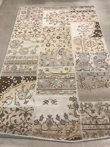 Pottery Barn Montgomery Patchwork Rug 5 X 8 Brand New