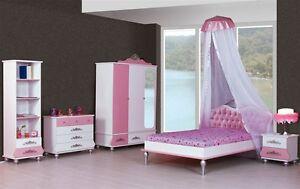 Kinderzimmer prinzessin  6er Set Kinderzimmer Prinzessin Kinder Bett Mädchen pink rosa | eBay