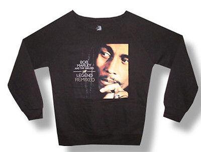 Bob Marley Men/'s  Unisex Soul Rebel RRR Distressed Crew Fleece Sweatshirt Black