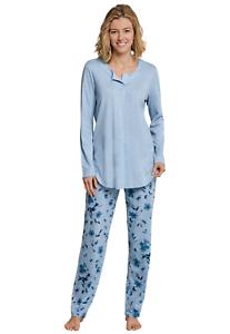 SCHIESSER Damen Schlafanzug Rundhals 100/% Baumwolle Gr 40-54 Pyjama L-7XL