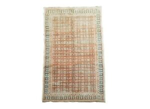 4X7-Antique-Cotton-Indian-Agra-Rug-Hand-Knotted-Carpet-circa-1920-3-10-x-6-9