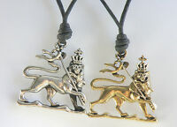 Lion Of Judah / Rasta Lion / Lion King Waxed Cotton Cord Surf Style Necklace