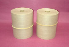 2 Rolls 300 X 50 Gummed Reinforced Paper Tape Kraft Shipping Packaging