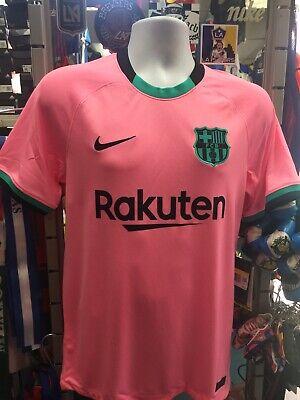 nike fc barcelona 3rd kit ucl 20 21 pink black jersey size s men s only 194276497043 ebay ebay