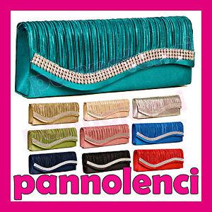 Borsa-donna-Pochette-handbag-raso-baguette-STRASS-clutch-tracolla-89307