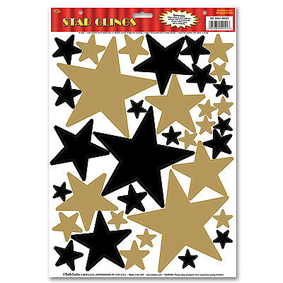 Hollywood Movie Night STAR CLINGS Wall Window Party Decorations AWARD PROM