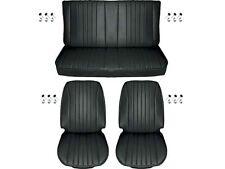 1968 Chevelle Standard Seat Upholstery Full Set, Coupe, Black