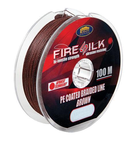 Firesilk PE Coated Braid 100m Spools\