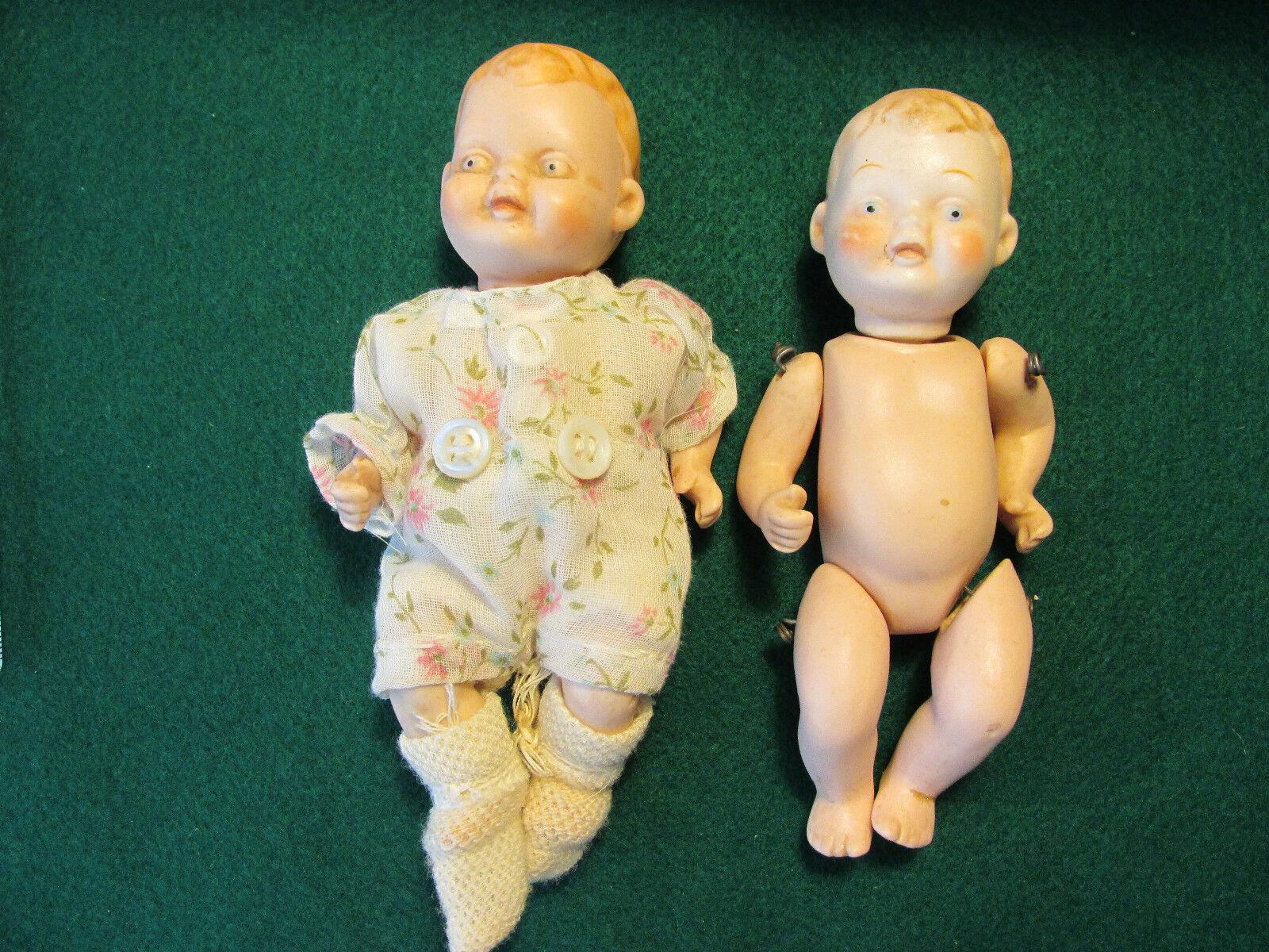 Due Antico Vintage  Bisque 5 pollici bambole articolato  produttori fornitura diretta