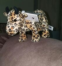 7e8fb8ee2cc Cow Parade Plush Leopard Print Cow with Udders Black Gold Westland Giftware  8