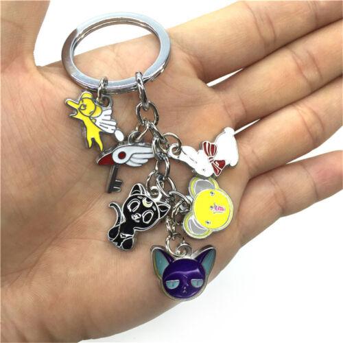 Animation Cardcaptor Sakura Metal Schlüsselbund Schlüsselcharme Anhänger