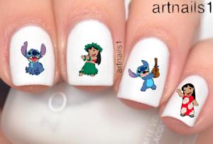 Disney-Lilo-Stitch-Nail-Art-Water-Decals-Stickers-Manicure-Salon-Polish-Gift