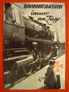 BAHNHOFSMISSION IMMER AM ZUGE - Titel: Dampflok 39 110 - 1 Broschüre von 1953