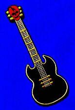 Aufnäher Patch E-Gitarre Biker Gibson Motorrad Jacke Musik Western Instrument sg