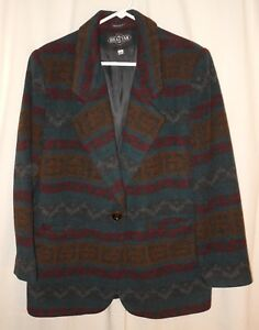 Cappotto di Indian lana Blanket Southwest Aztec donna Cappotto da Medium 16x1qwr4