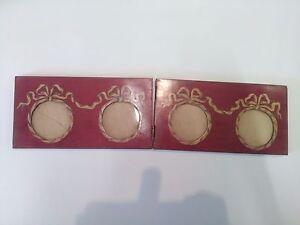 ancien-cadre-bois-marqueterie-miniature-photo-feuillure-6-cm-noeuds-pliant-peint