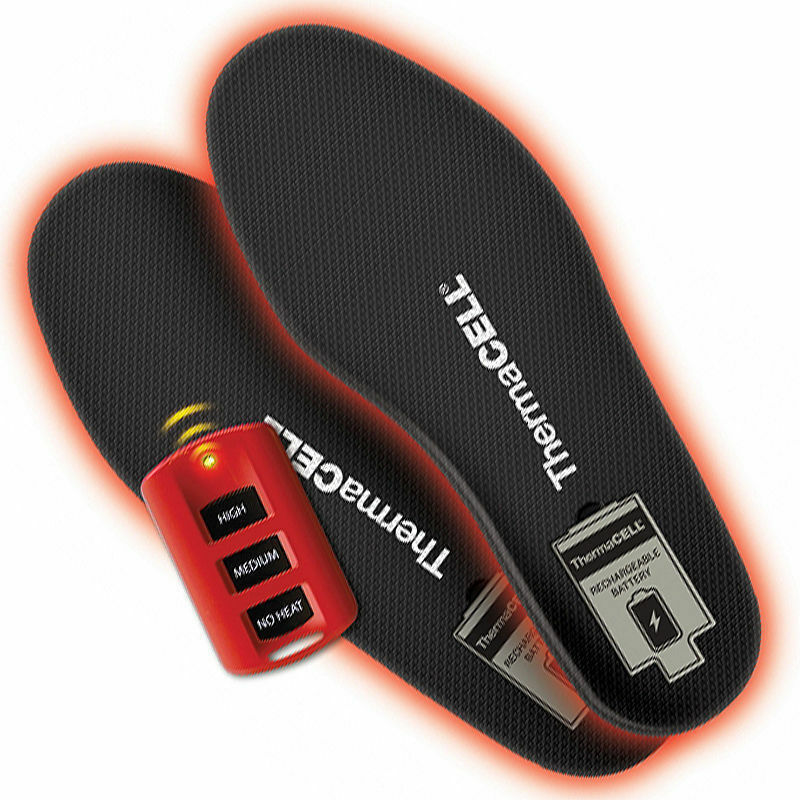 Thermacell ProFlex SMALL Rechargeable Heated Insoles - HW20-S w  Remote Control
