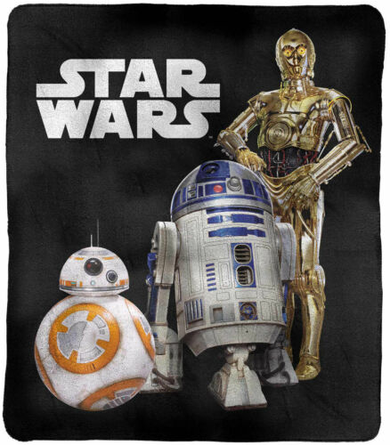 Star Wars C-3PO R2-D2 BB-8 Polar Fleece BlanketThrow BlanketPicnic Rug