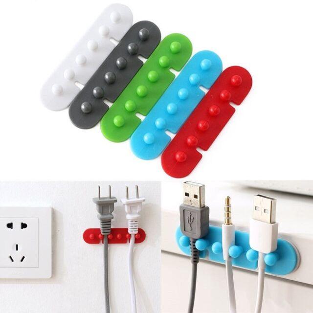 2x Wire Cord Clip Cable Line Holder Tie Fixer Organizer Drop ...