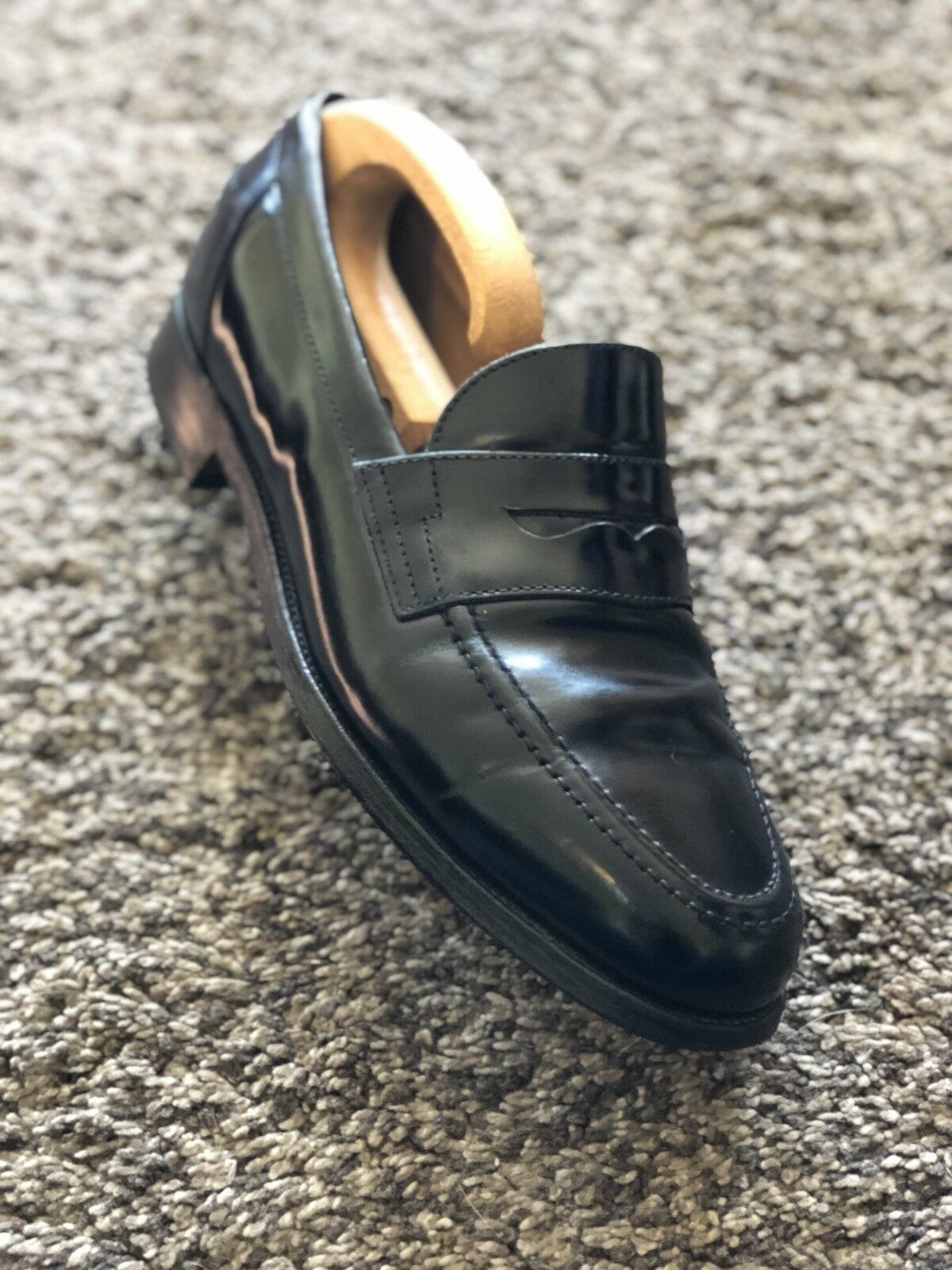 ~Alfred Sargent~'Elstree' Loafers For S&H Black Penny Loafers Sargent~'Elstree' ~Stunning~ 9c09e5