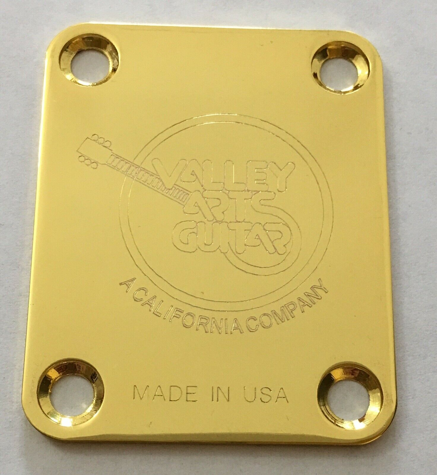 Valley Arts Guitars - Gold Neck Plate