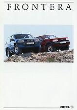Prospekt 1991 Opel Frontera Autoprospekt 9 91 Pkw Auto Geländewagen brochure 4WD
