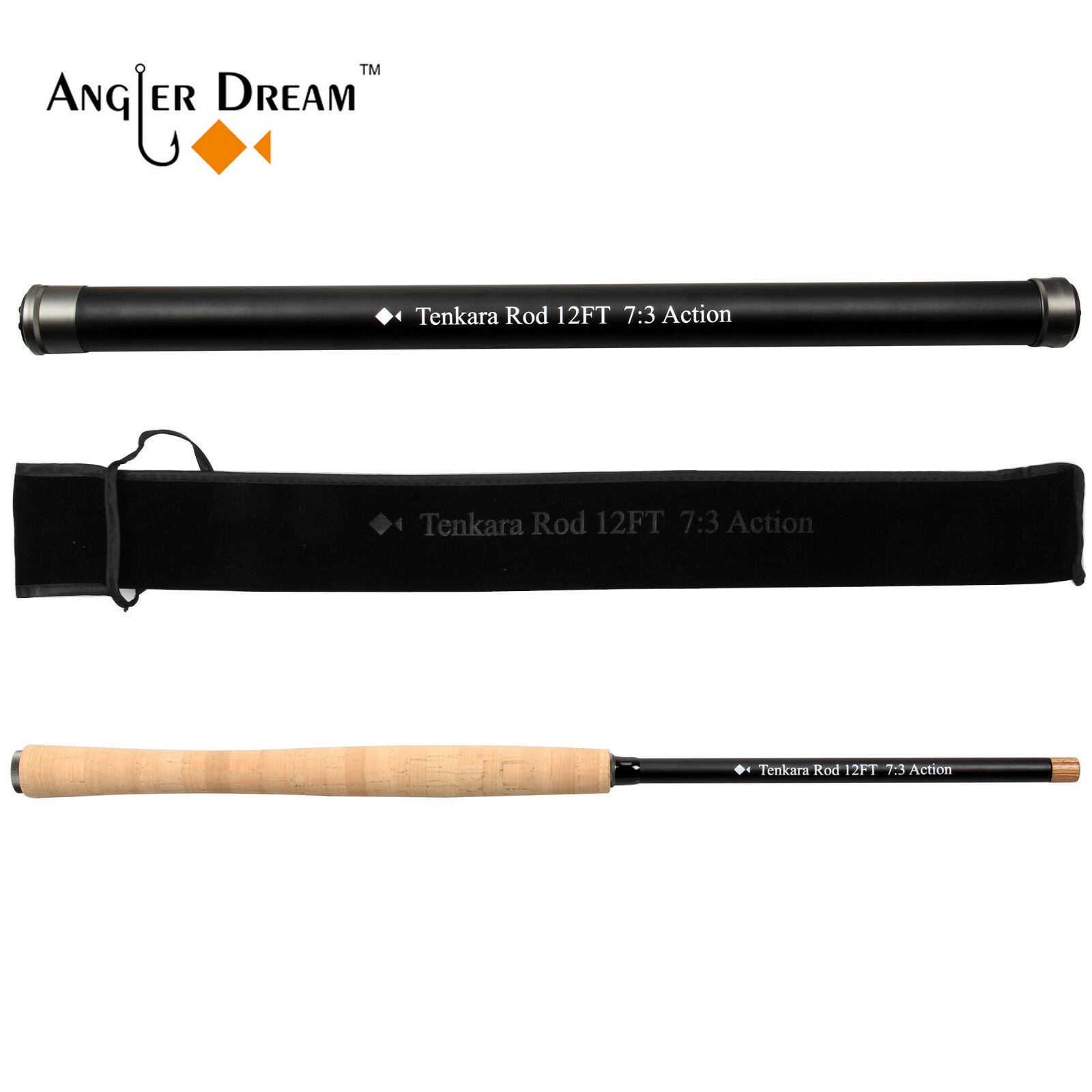 12 13FT Tenkara Rod Carbon Fiber (IM8) 7  3 Action Telescopic Fly Fishing Rods  will make you satisfied
