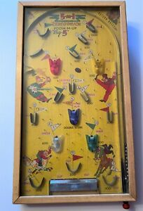 Vintage-5-IN-1-POOSH-M-UP-BIG-5-Tabletop-Pin-Ball-NW-Products-Works-SEE-VIDEO