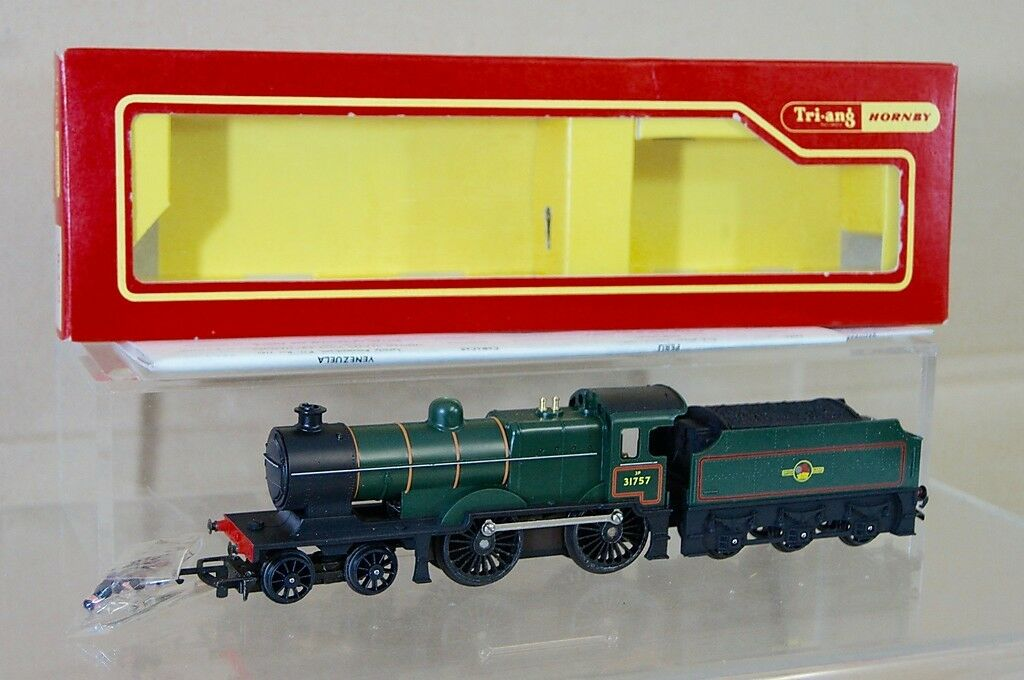 TRIANG HORNBY R350 BR GREEN 4-4-0 CLASS L1 LOCO 31757 MINT BOXED nf