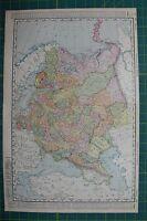 Russia Vintage Original 1895 Rand McNally World Atlas Map Lot