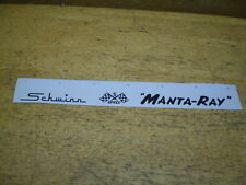 Complete Schwinn Stingray Manta - Ray Bicycle Black Mantaray Decal