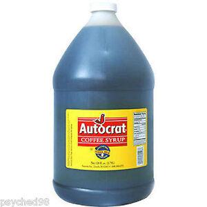 Autocrat Coffee Syrup  Gallon