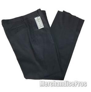 MADE-IN-ITALY-GRAY-WOOL-SLACKS-PANTS-PLEATED-FRONT-MEN-039-S-36xR-REGULAR-NEW