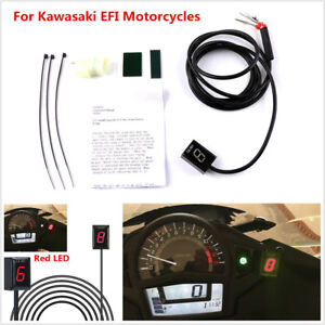 Plug Play Motorcycle Gear Indicator Red Led Display For Kawasaki Efi