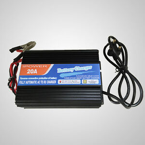 12V-20A-Leisure-Battery-Charger-Caravan-Campervan-Motorhome-Boat-New